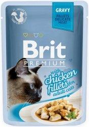 Brit 8524 Premium Cat 85g Kurczak sos saszetka