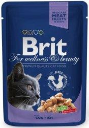 Brit 6002 Premium Cat 100g Dorsz sos saszetka