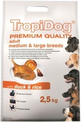 Tropidog 57015 Premium Adult M&L Duck&Rice 2,5kg