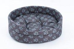 Derma 2983 legowisko z poduszką niebieską łapkę 1