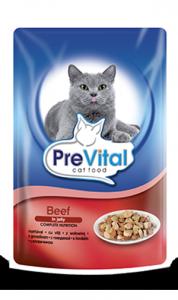 PreVital 2027 saszetka dla kota 100g wołow. gal.