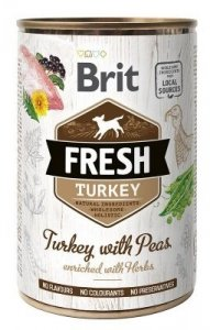 Brit Fresh 3879 Puszka 400g Turkey & Peas