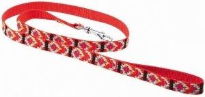 Chaba Smycz 1795 Taśma india.stand10x1300 czerwona