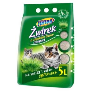 HILTON 7791 Żwir zbryl COMPACT TRAWA 5L d/kociąt