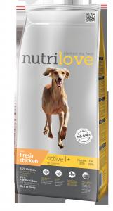 Nutrilove Dog 11482 Active 3kg kurczak