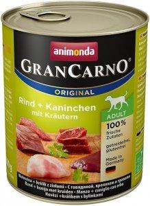 Animonda 82767 Gran Carno Wołow Królik+Zioła 800g