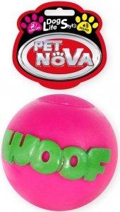 Pet Nova 1458 Piłka różowa z napisem WOOF 8cm
