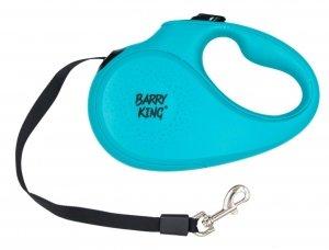 Barry King 17075 Smycz auto L tape 5m turkusowa