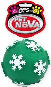 Pet Nova 1694 Piłka płatki śniegu zielona 7,5cm