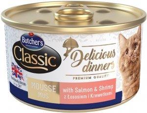 Butcher's 1644 Delicious Dinners łosoś/krewetk 85g