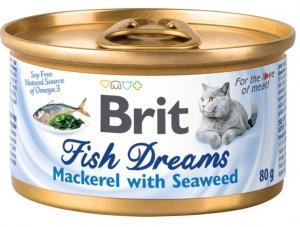 Brit Cat Fish Dreams Mackerel&Seaweed 80g