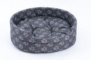 Derma 2990 legowisko z poduszką niebieską łapkę 2