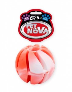 Pet Nova 2097 Piłka na przysmaki 6cm, czerwona