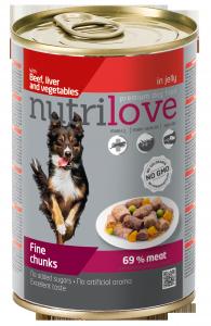 Nutrilove Dog 11449 puszka 415g wół wątroba warzyw