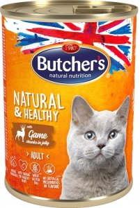 Butchers 5710 Cat Natural&Healthy 400g dziczyz gal