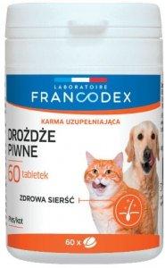 Francodex 179167 Drożdże piwne pies/kot 60 tabl