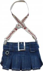 Dolly C109-XL Spódniczka z szelkami jeans 33-35cm