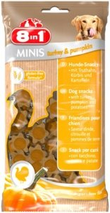 8in1 125266 Przysmak Minis Turkey Pumpk 100g