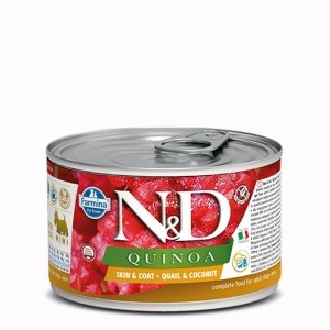 ND Dog 2390 Quinoa Mini 140g Skin&Coat Quail