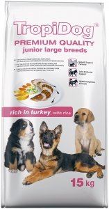 Tropidog 57237 Premium Junior L Turkey&Rice 12kg