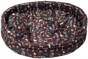 Derma 1375 legowisko z poduszką niebieski pies 2*