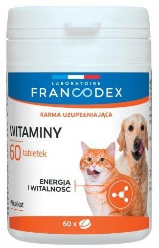 Francodex 179165 Witaminy dla psów i kotów 60 tabl