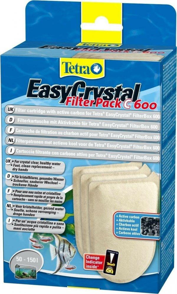 Tetra 174665 EasyCrystal Filter Pack C600 węgiel