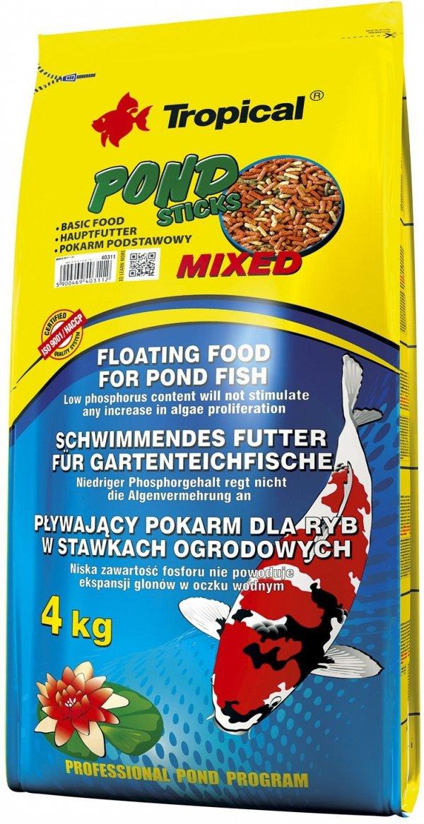 Trop. Pond 40311 Sticks Mixed 4kg worek