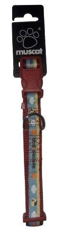 ZOLUX 546650RO Obroża taśma Picnic 15mm czerwona*