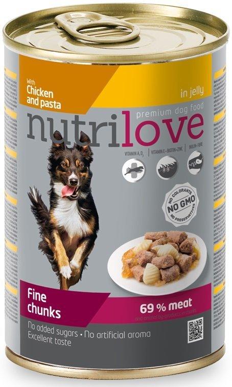 Nutrilove Dog 11448 puszka 415g kura makaron kawał