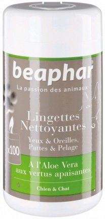 Beaphar 15821 Chusteczki pielegnac pies/kot 100szt