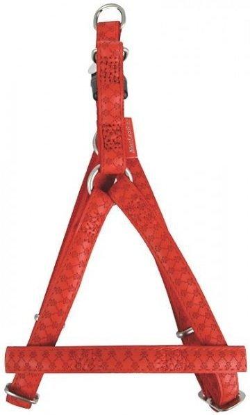 Zolux 522055RO Szelki Mac Leather 15mm czerwone