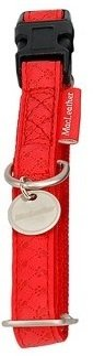 Zolux 522045RO Obroża Mac Leather 25mm czerwona