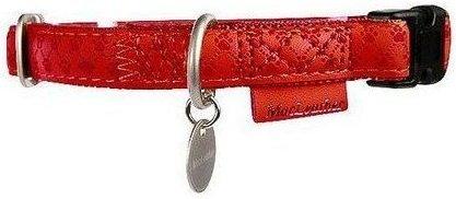 Zolux 522030RO Obroża Mac Leather 10mm czerwona