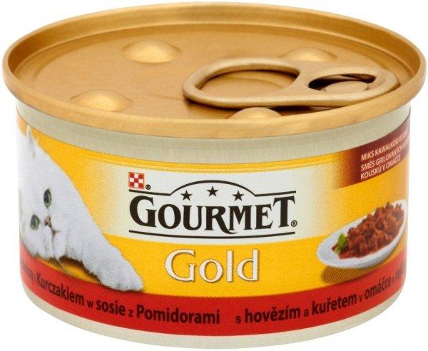 Gourmet Gold 85g Duot Wołowina Kura Pomidory