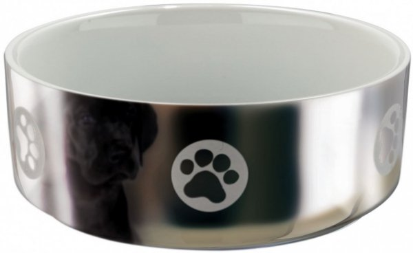 Trixie 25083 Miska ceramiczna z motyw 0,3L sreb/bi