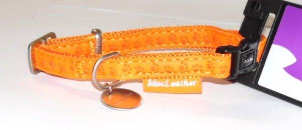 Zolux 435170ORA Obroża Mac Leather 10mm pomarańcz
