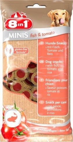 8in1 125228 Przysmak Minis Fish Tomato 100g