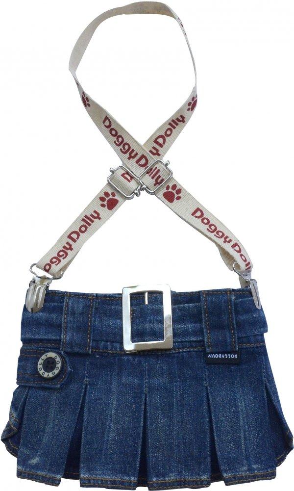Dolly C109-XXL Spódniczka z szelkami jeans 36-38cm