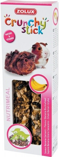 Zolux 209232 Crunchy Stick świnka banan kasz 115g