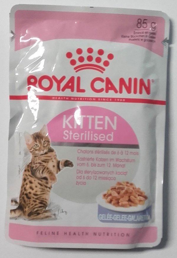 Royal 249950 Kitten Sterilised w galaretce 85g