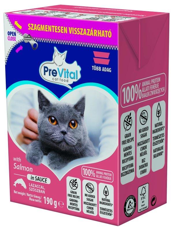 PreVital 1297 tetra pak/kot łosoś w sosie 190g
