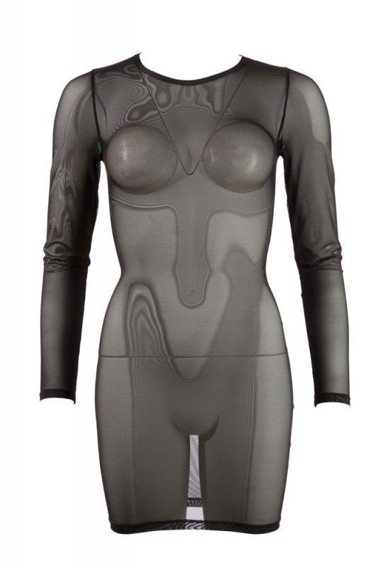 Siateczkowa mini sukienka M