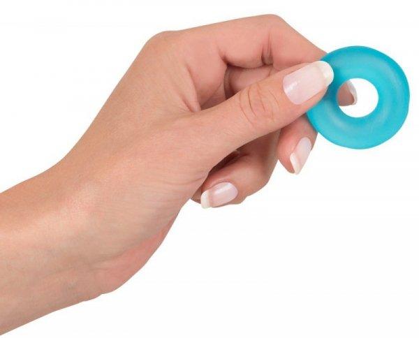 Pierścień Stretchy Cockring Frosted Blue