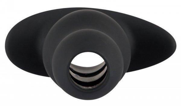Korek analny silikonowy z otworem 11,2 cm Black Velvets