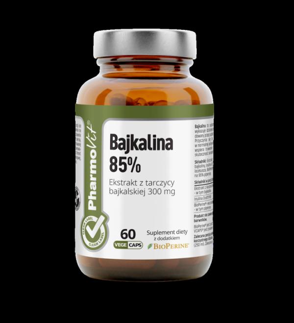 Bajkalina 85% Ekstrakt z tarczycy bajkalskiej 300 mg- 60 kapsułek Vcaps® PharmoVit