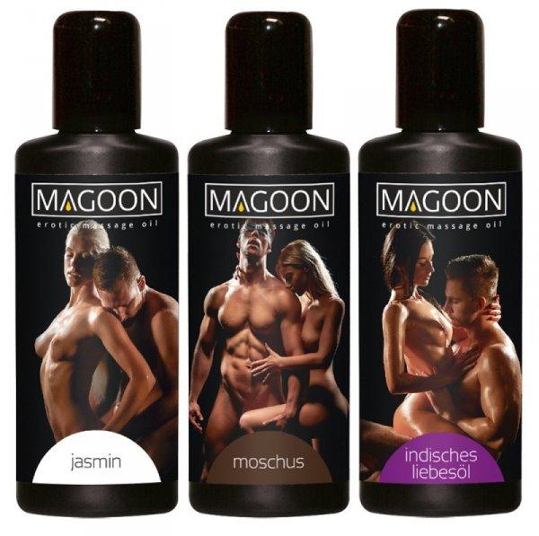 Zestaw olejków do masażu Jaśmin, Musk, Indian Love 3x50ml Magoon
