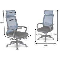 Fotel biurowy krzesło obrotowe mikrosiatka Nosberg - mechanizm TILT
