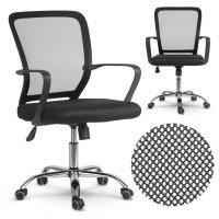 Fotel biurowy obrotowy z mikrosiatki Sofotel Diran czarny