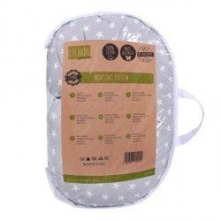 Lulando poduszka do karmienia (rogal) białe gwiazdki na szarym